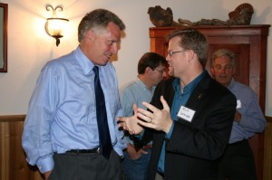 Terry McAuliffe and Rick Waugh in Rappahannock County