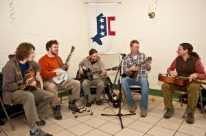 The Gold Top County Ramblers perform at the first Blue State Bluegrass Brunch, held in March 2011.
