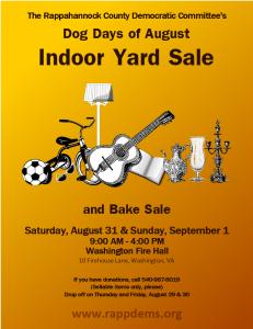 Dog Days of August Indoor Yard Sale